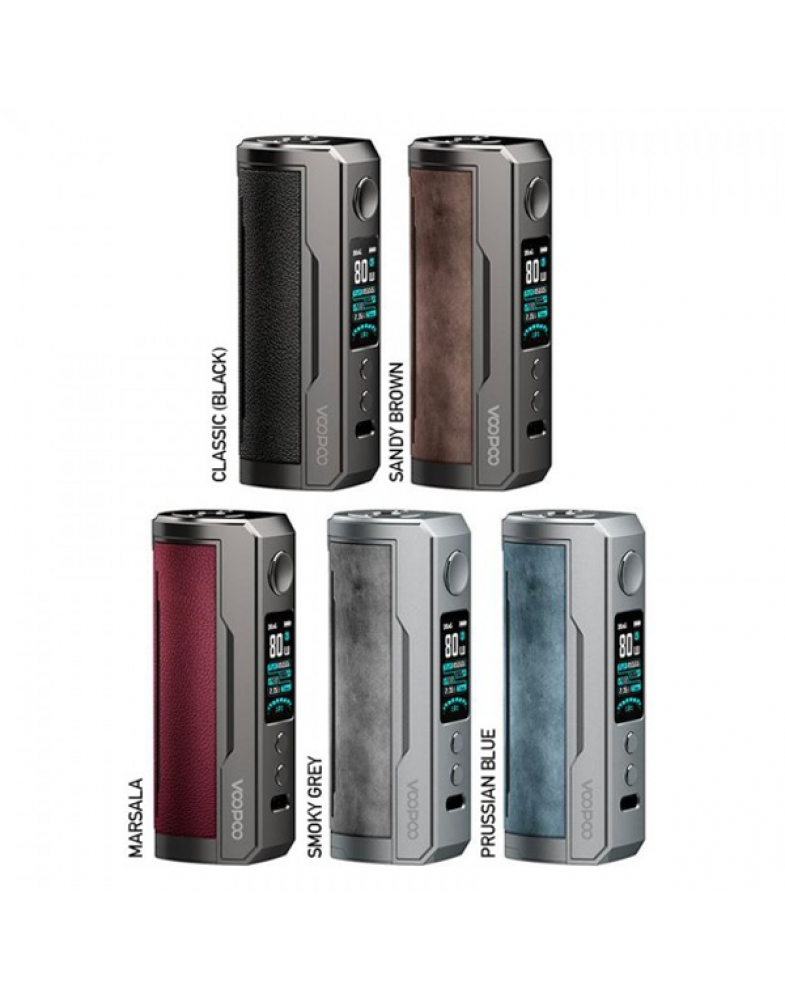 Бокс мод Voopoo Drag X Plus 100W Mod Smoky Grey